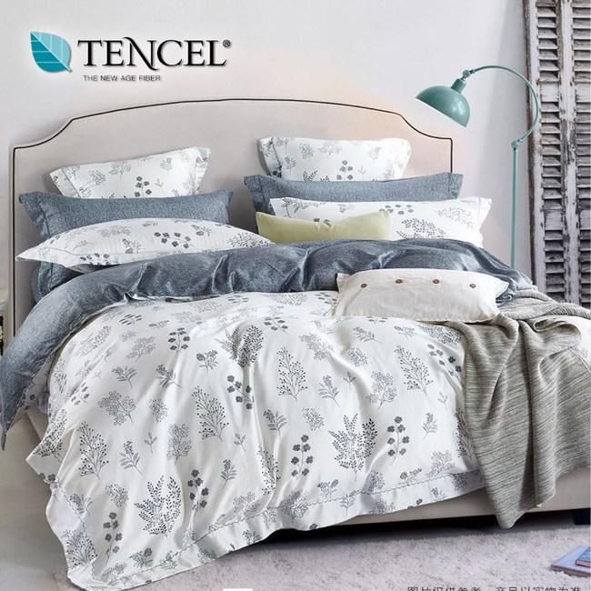 【貝兒居家寢飾生活館】頂級100%天絲床罩鋪棉兩用被七件組(雙人/簡愛)