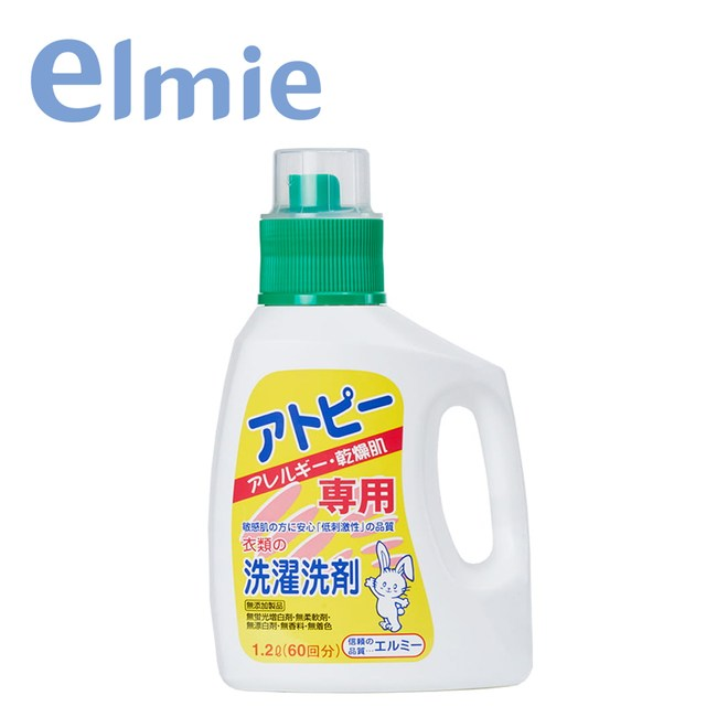 【日本愛兒美Elmie】敏感肌溫和洗衣精1200ml