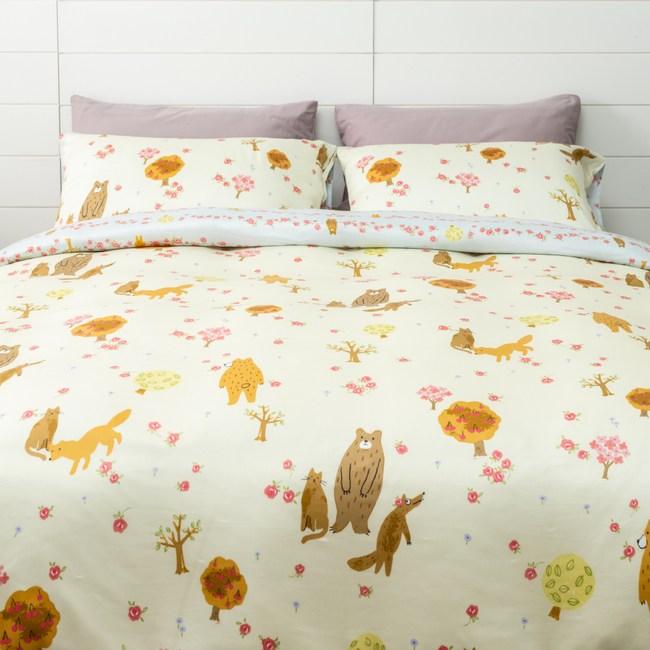 (組)安妮森林天絲防螨抗菌兩用床被組-雙人