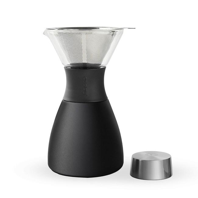 Asobu Pour Over 經典手沖不鏽鋼保溫咖啡濾壺沉穩黑