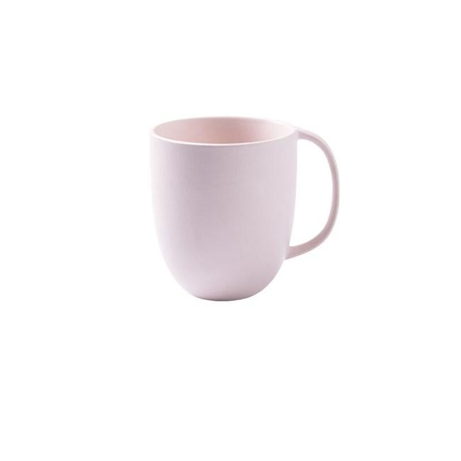 創意純色簡約咖啡杯馬克杯300ml粉