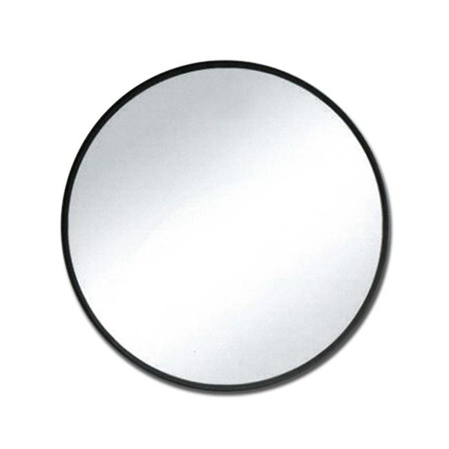 典雅黑不銹鋼浴室圓形明鏡-60CM-2560B2560B