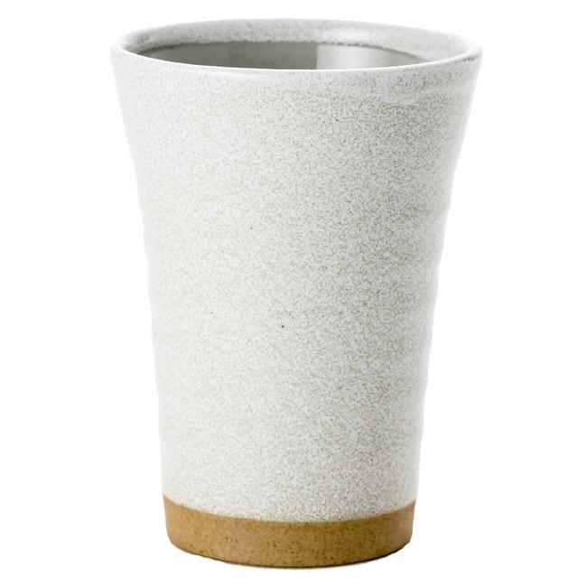 日本 千段湯吞杯 白色 300ml