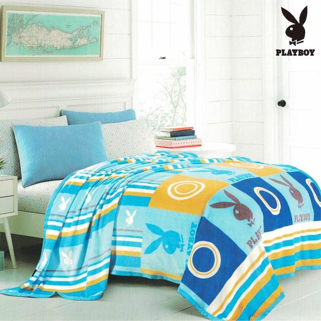 PLAYBOY美國花花公子自由世界法蘭絨單層毯 PB-2201