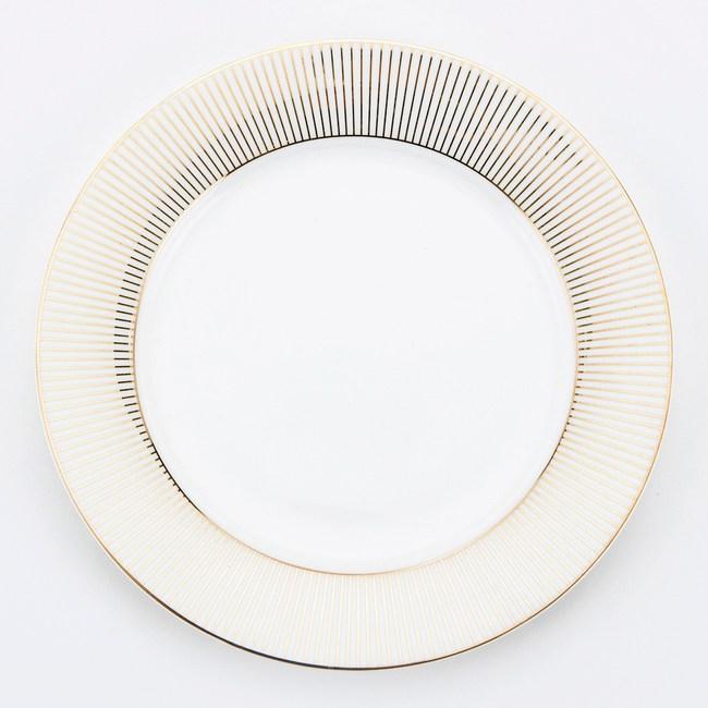 HOLA 金弦骨瓷平盤 20.5cm 線條