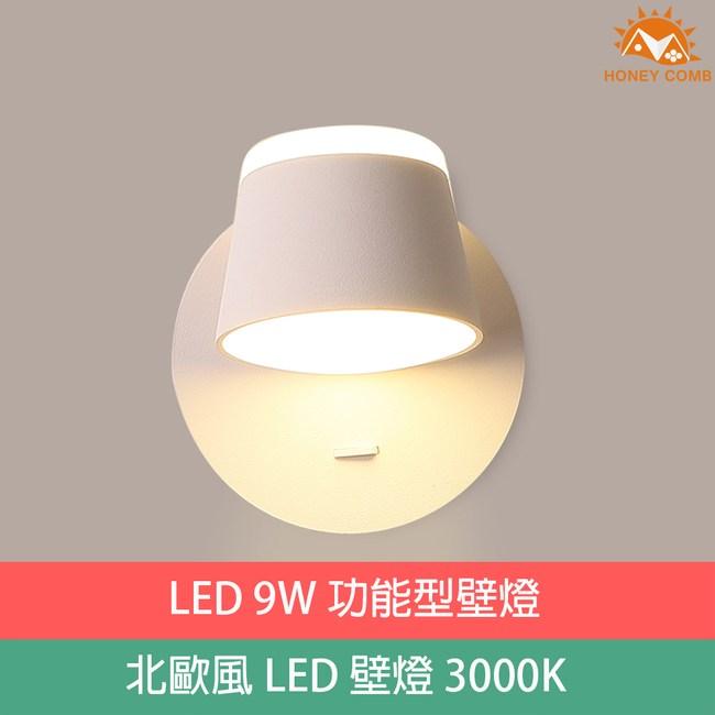 HONEY COMB 北歐風 LED 9W功能型壁燈TA4230D 白色