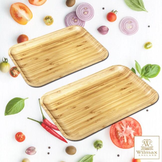 【英國 WILMAX】竹製長形餐盤/輕食盤 超值二入組