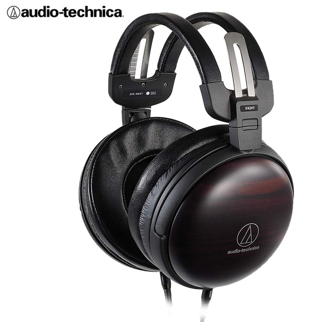 【送原木耳機架】鐵三角 ATH-AWKT 黑檀木 小羊皮耳罩式耳機