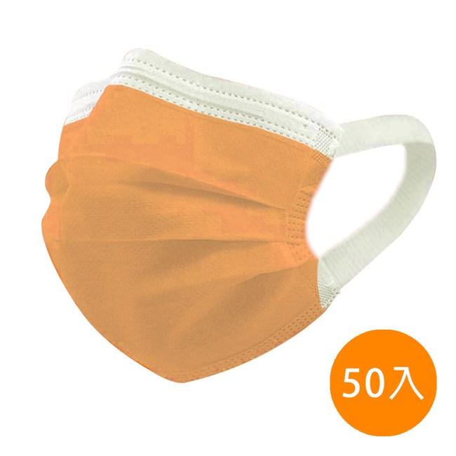 【神煥】橘色 成人 醫療 口罩50入/盒 (未滅菌)專利可調式無痛耳帶