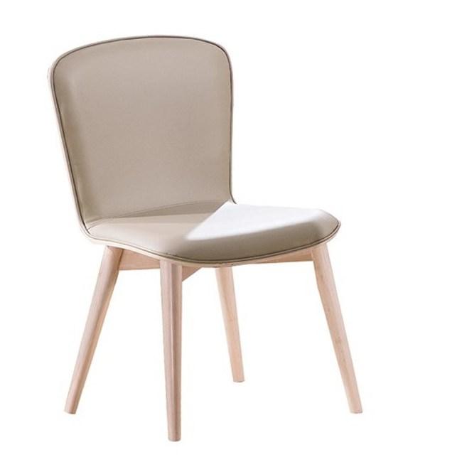 喬克洗白淺咖啡皮餐椅