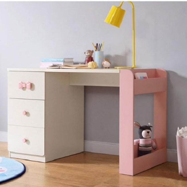 林氏木業童趣貓咪簡約造型學生成長學習桌EA1V-粉色