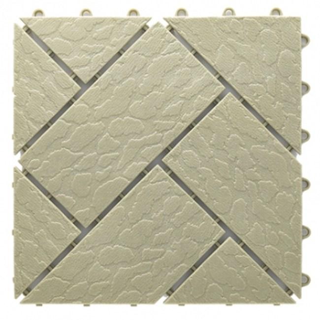 菱紋組合地板 4片 -綠