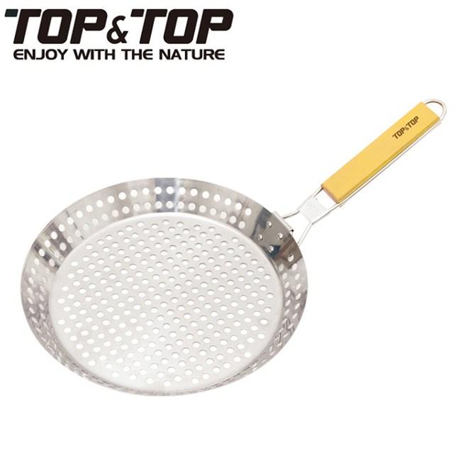 【韓國TOP&TOP】不鏽鋼烤盤/摺疊握把