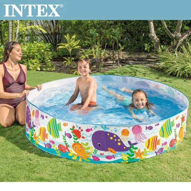 INTEX免充氣海洋世界幼童戲水泳池183x38cm(56452N)