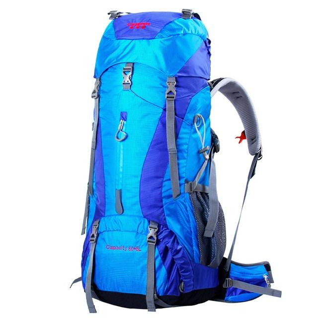 【PUSH!登山戶外用品】60+5L專業型登山背包旅行背包U09-1暗金配淺黃