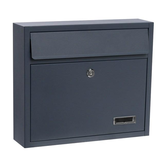 寬型橫式信箱-鐵灰
