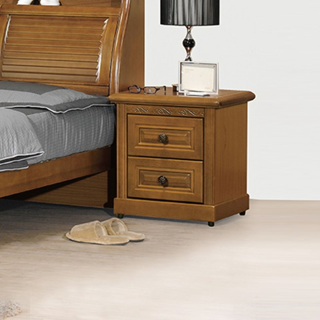 【YFS】亞爾曼樟木床頭櫃-53x45x56cm