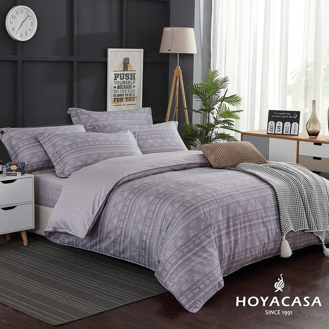 【HOYACASA-星野】雙人四件式300織抗菌精梳長絨棉兩用被床包組