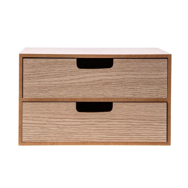 尼爾森雙層抽屜盒(中) 25x15x15cm