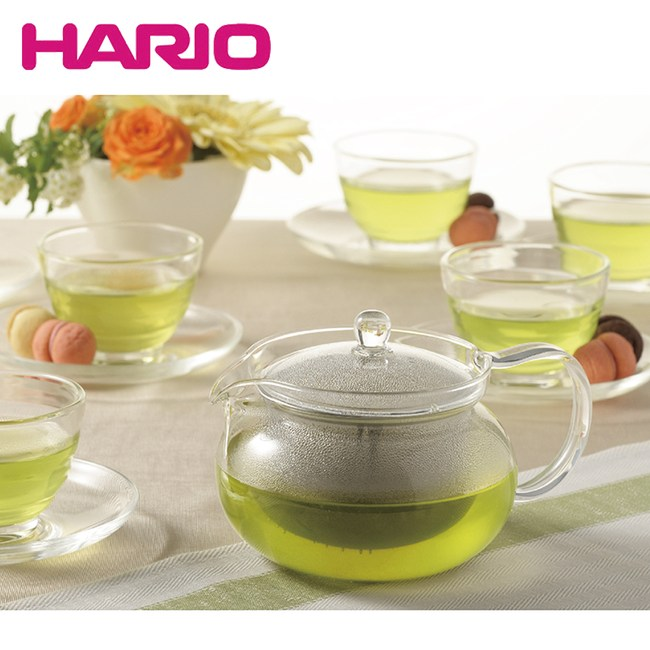 【日本 HARIO】茶茶急須禮盒13件組(1壺+6杯+6盤)