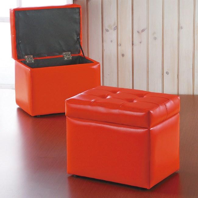 【YFS】東尼掀蓋沙發收納椅-39x28x31cm(兩色可選)紅色