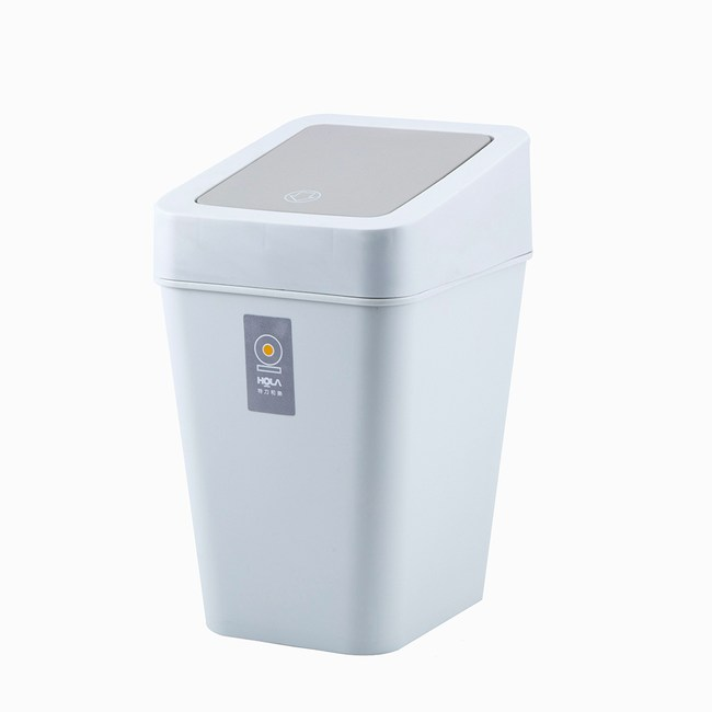 HOLA 方型搖蓋垃圾桶9L