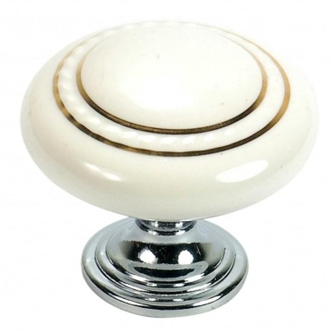 鋅質鍍K金白陶瓷取手35mm