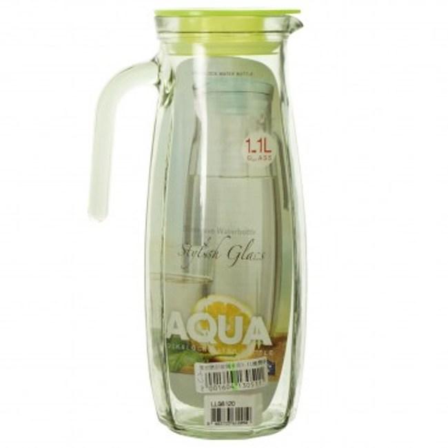 樂扣樂扣玻璃水壺1.1L橄欖綠色