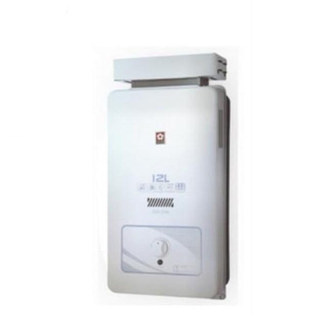 (含標準安裝)櫻花水盤式屋外型熱水器GH-1206天然氣