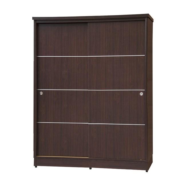 【YFS】安得烈4尺胡桃色二拉衣櫃-122x60x199cm