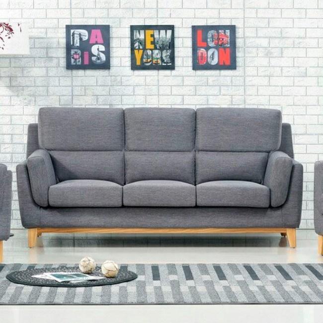 【YFS】愛妮莎灰布全拆式高背三人坐沙發-210x92x98cm