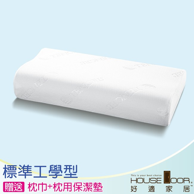 House door 天絲舒柔表布 涼感親膚記憶枕 超值組-標準工學型