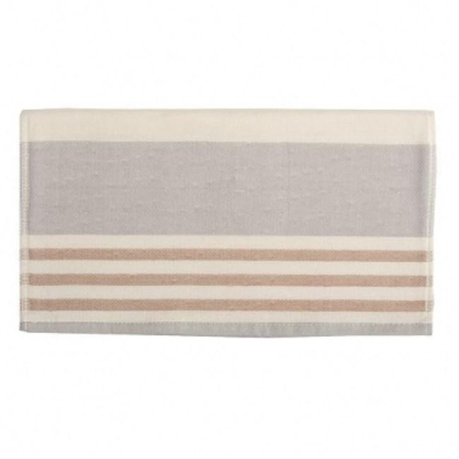 有機棉紗布毛巾 條紋咖啡