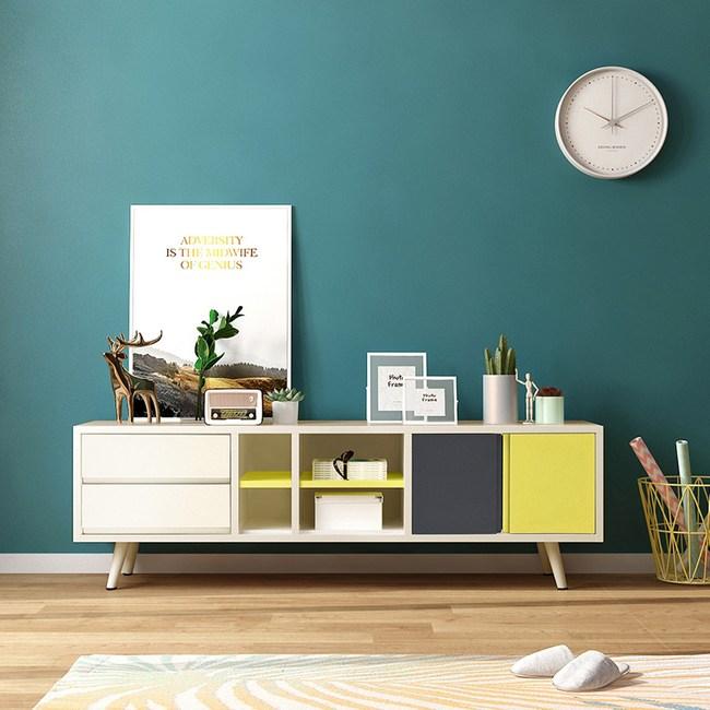 林氏木業北歐簡約鐵製電視櫃 LS092