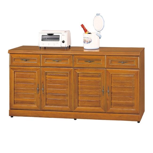【YFS】維吉爾正樟木5.3尺碗盤櫃-159x42x81cm