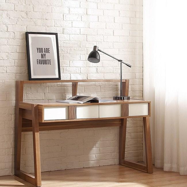 林氏木業現代簡約小戶型雙層書桌電腦桌CP4V