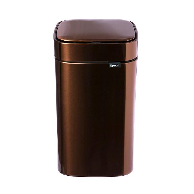 Upella 凝露方形感應式垃圾桶12L-森林棕