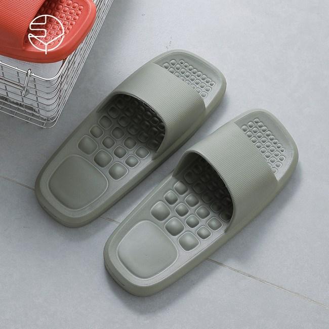 【日本霜山】男款環保EVA輕量無臭防滑拖鞋(室內/室外/浴室)-2色27cm(41-42)