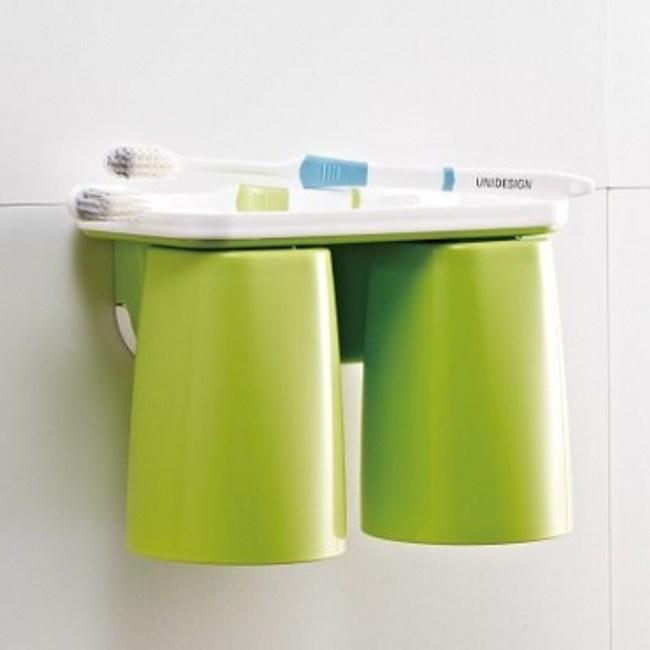 磁吸式漱口杯2入組-芥末綠