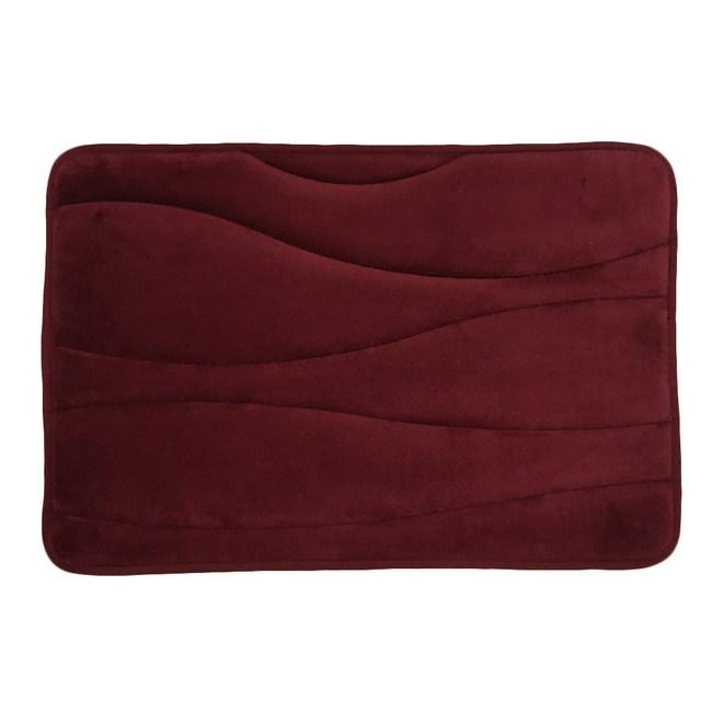 德萊直立棉踏墊40x60cm-曲線紅