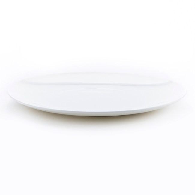 HOLA 緻白骨瓷月光平盤 25.5cm