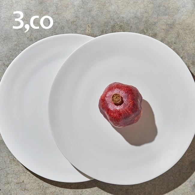 【3 co】水波主菜盤-白+白(2件式)
