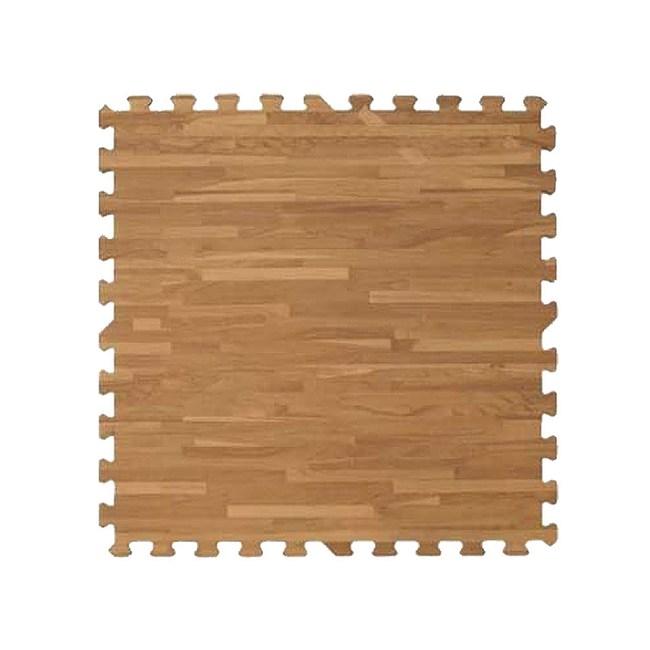 新生活家 耐磨拼花木紋地墊(深色62x62x1.4cm12入)