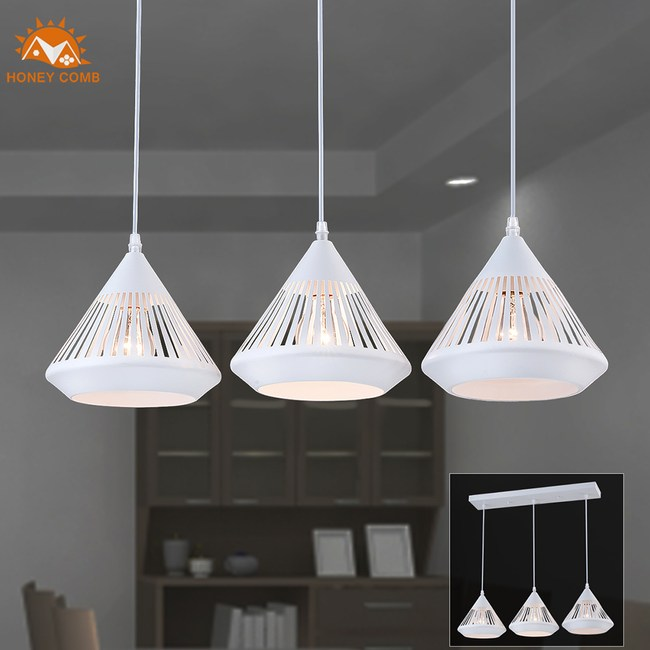 【Honey Comb】工業風餐廳長型三吊燈(MK527-113)