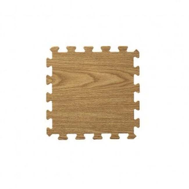 【新生活家】耐磨橡木紋地墊(深色32x32x1cm30入)