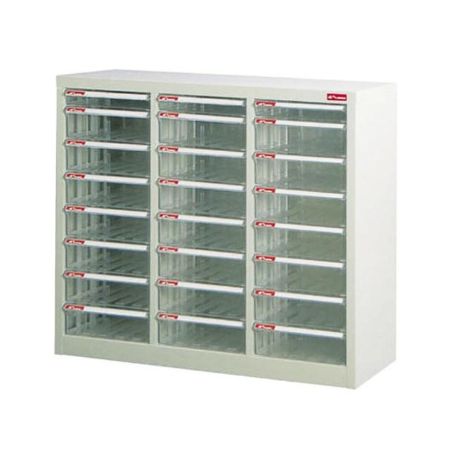 落地三排型資料櫃(3個低抽+21個高抽)