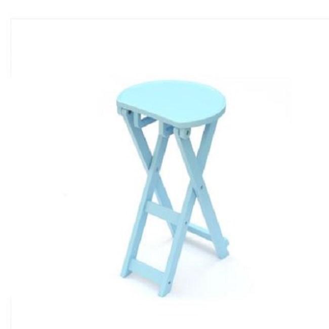 實木創意折疊椅-天空藍-小