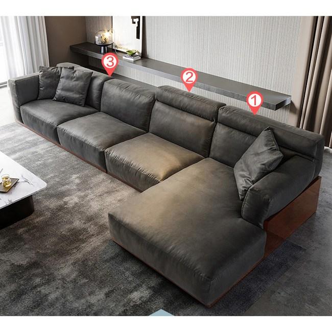 林氏木業簡約沉穩實木框左L四人科技布沙發 S041-深灰色