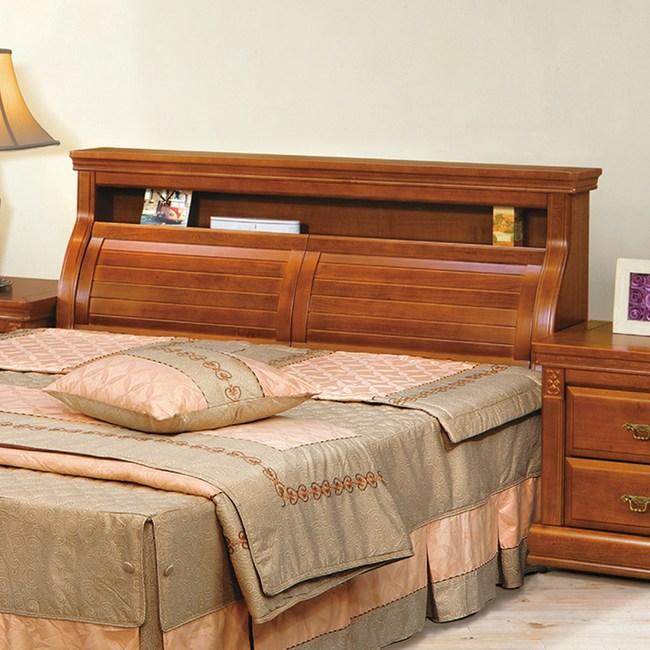 顛覆設計 德克實木樟木色床頭箱-雙人5尺