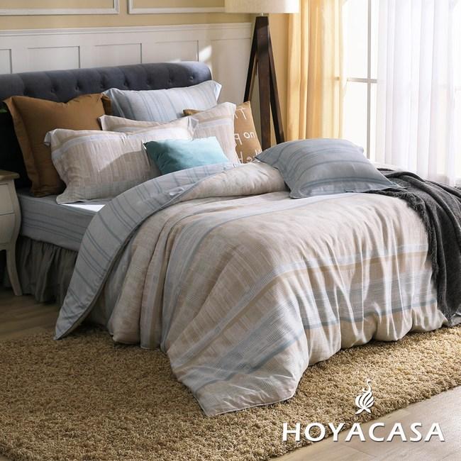 【HOYACASA-塞哥維亞】單人四件式抗菌天絲兩用被床包組
